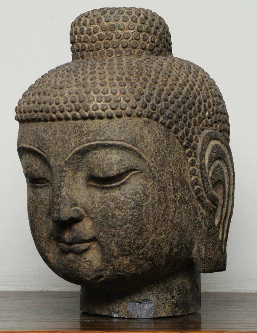 Carved Stone Buddha Head