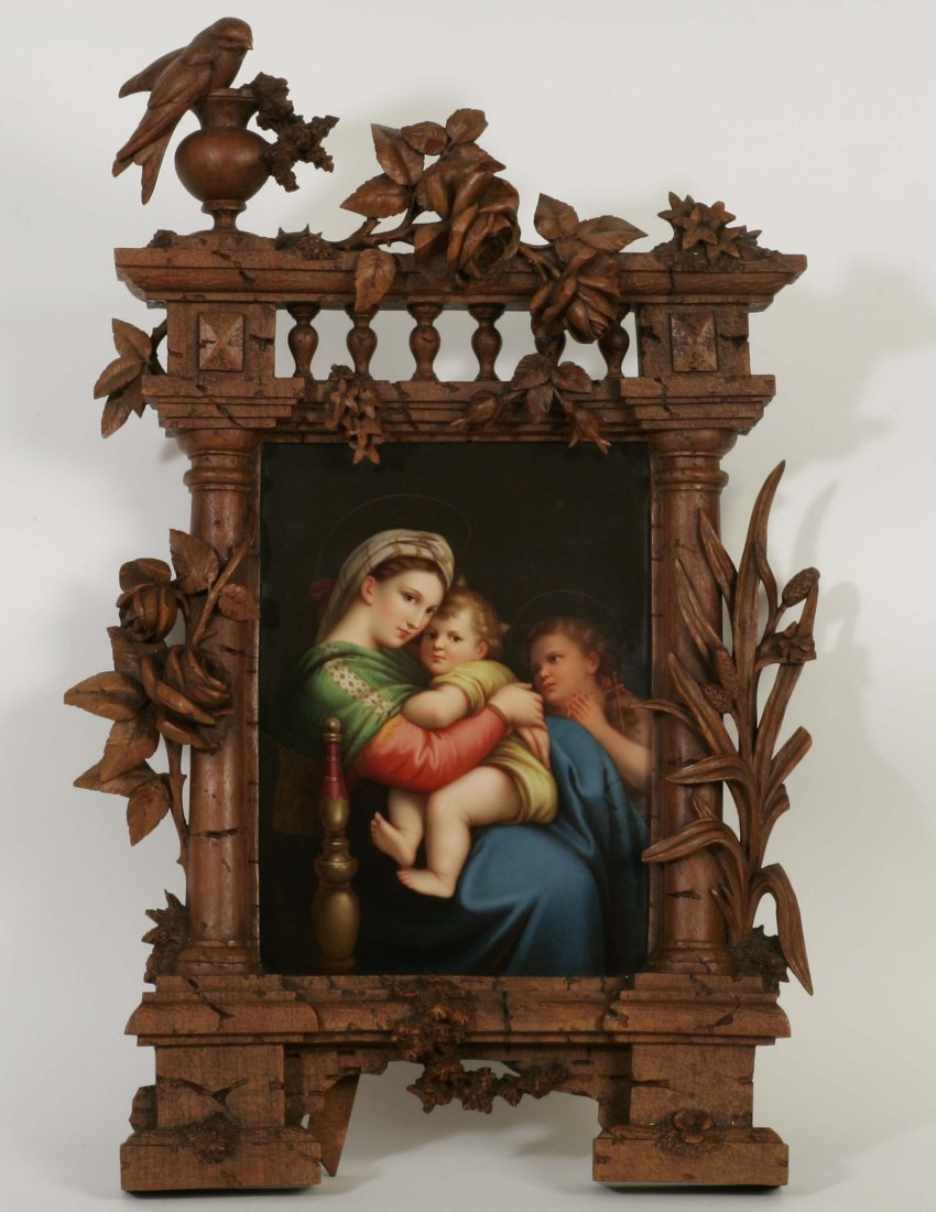 KPM Porcelain Plaque of Mother with Children