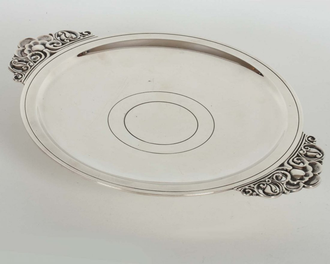 Tiffany & Co. Sterling Handled Plate 14 oz