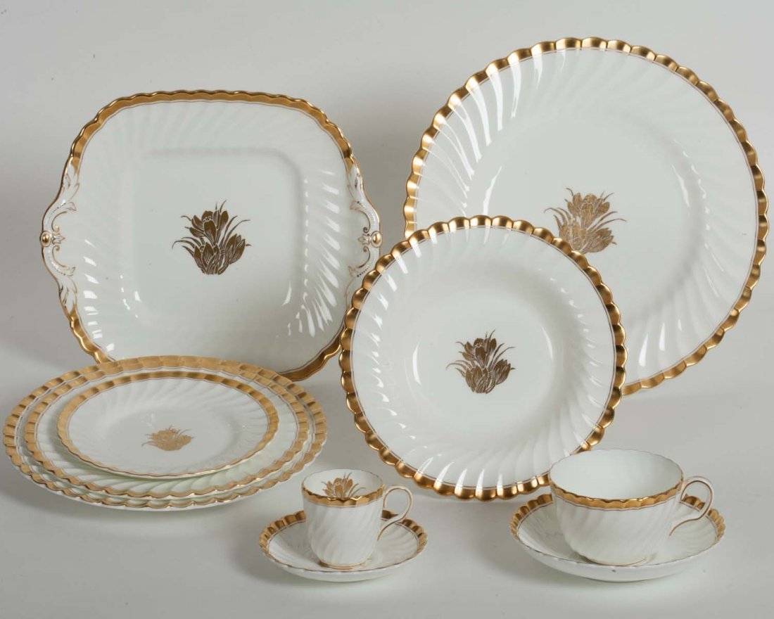 Minton White and Gold Dinnerware