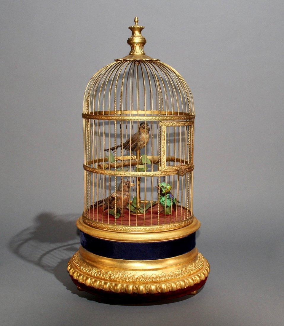 TRIO OF SINGING BIRDS AUTOMATON – BONTEMPS