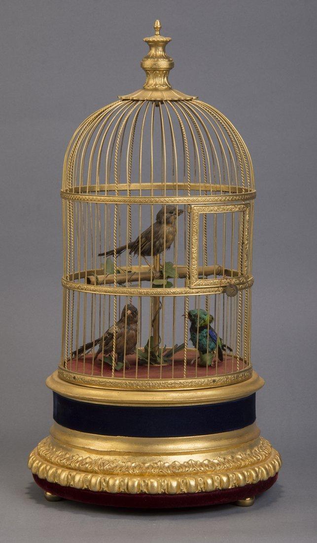 TRIO OF SINGING BIRDS AUTOMATON – BONTEMPS - 3