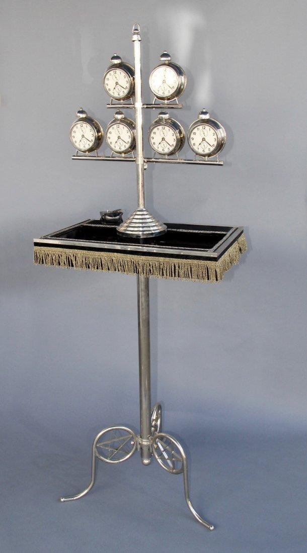 VANISHING TOWER OF 6 ALARM CLOCKS – RUEDIGER DEUTSCH
