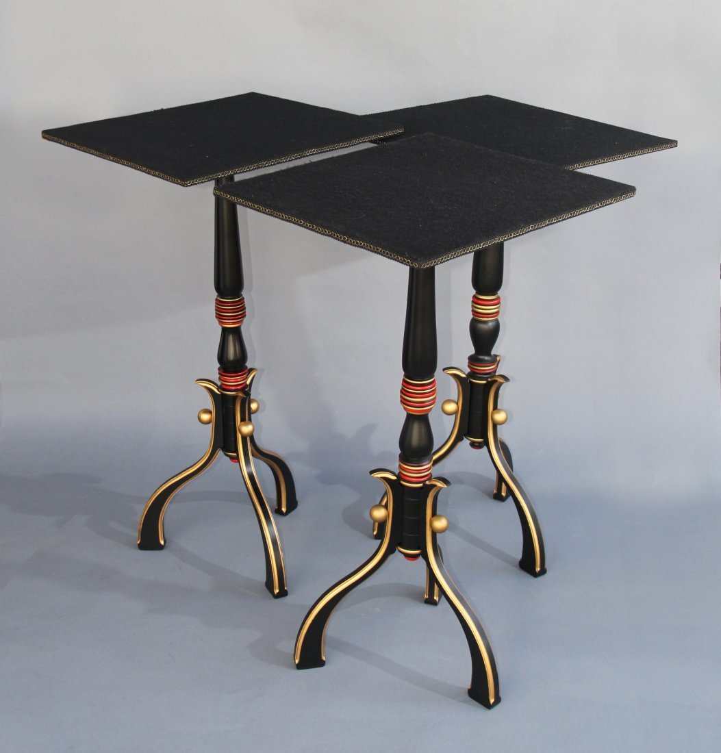 TRIO OF SIDE TABLES – CARL WILLIAMS