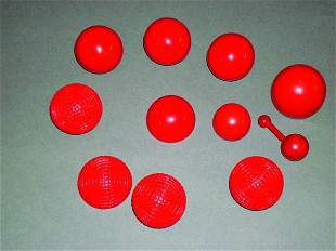 18: (Apparatus) Three Items: Billiard Ball Set