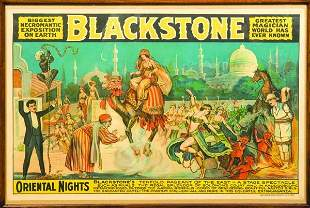 22: (Poster) Blackstone, Harry Sr. Blackstone Orienta