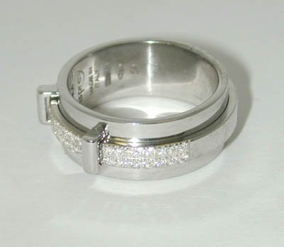 13: Asprey 18K White Gold Diamond Ring