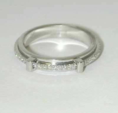 14: Asprey 18K White Gold Diamond Ring