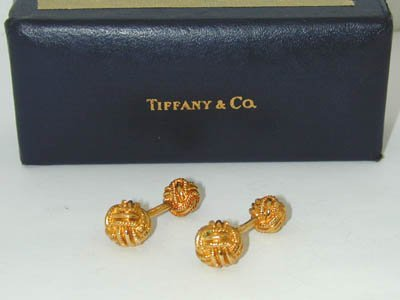 25: Tiffany & Co. Schlumberger 18K Yellow Gold Cufflink