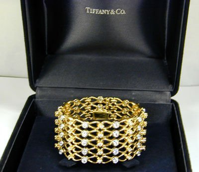 67: Tiffany & Co. Platinum/18K Yellow Gold Diamond Brac