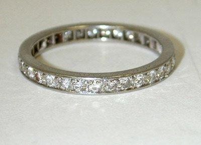 81: Tiffany & Co. Platinum Diamond Ring