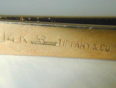 128: Tiffany & Co. 14K Yellow Gold Tie Clip - 3