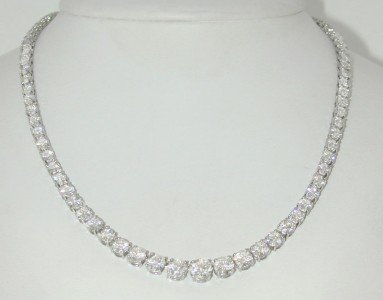 395: Cartier Platinum Diamond Necklace