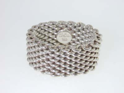 10: Tiffany & Co. Silver Mesh Ring