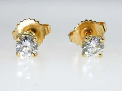 25: Tiffany & Co.18K Yellow Gold Diamond Stud Earrings