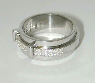 13: 13: 13: Asprey 18K White Gold Diamond Ring