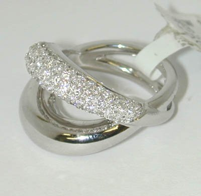 21: 21: 21: MAUBOUSSIN PARIS 18K White Gold Ring