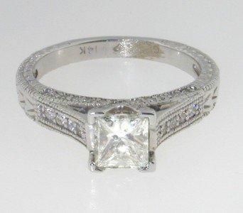 283: 283: 283: 14Kt Lady's Princess Cut Diamond Engagem