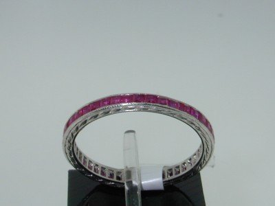 2: 2: Platinum Invisible Set Ruby Ring