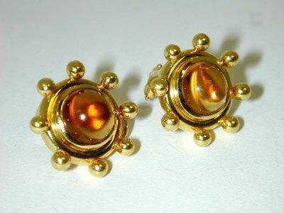 80: 80: 80: 80: Tiffany & Co. 18K Yellow Gold Earrings