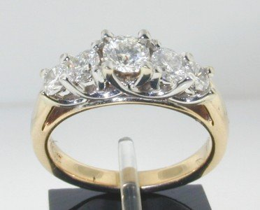 13: 14K 2Toned Gold Lady'sRound Diamond Engagement Rin
