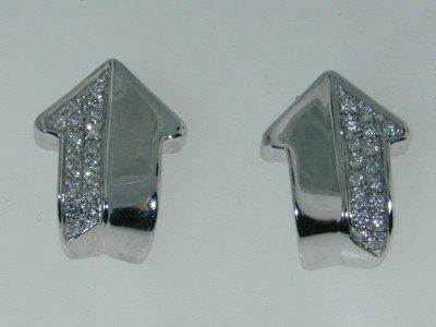 1: Enigma 18K White Gold Diamond Earrings
