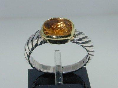 27: David Yurman 18K Yellow Gold & Silver Citrine Ring