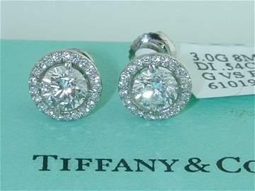 206: Tiffany & Co. Platinum and Diamond Earrings