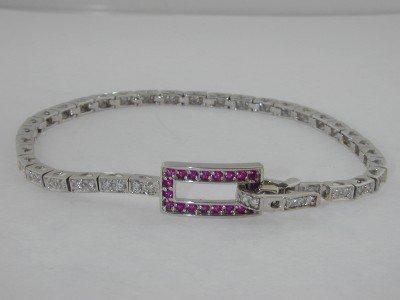 1: 1: 14Kt White Gold diamond Bracelet