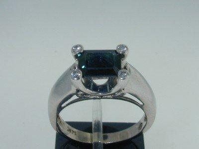 22: 22: 14k White Gold Sapphire & Diamond Ring