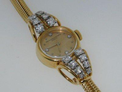 122: 122: AuthenticVacheron&Constantin18K Gold Diamond