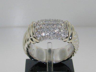 2: 2: 2: David Yurman 18K White Gold Diamond Ring,