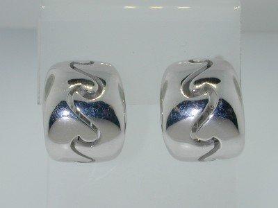 12: 12: Van Cleef Arpels 18k White Gold Earrings.