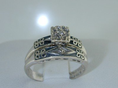 21: 21: 21: 14K White Gold Diamond Ring