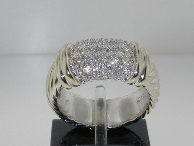 2: David Yurman 18K White Gold Diamond Ring,