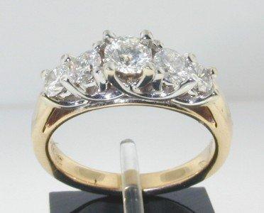 13: 14K 2Toned Gold Lady'sRound Diamond