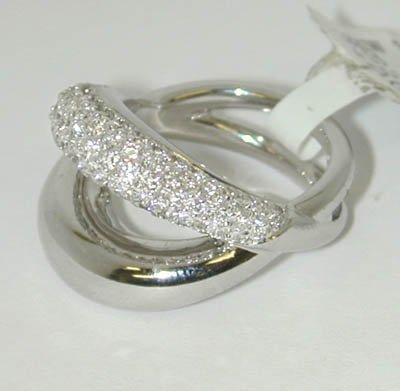 21: MAUBOUSSIN PARIS 18K White Gold Ring !!