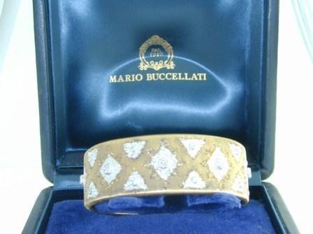 Buccellati 18K Yellow Gold Diamond Bangle!