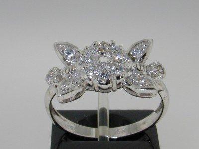 22: 14K White Gold Diamond Ring!!