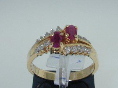19: 14K Yellow Gold Ruby & Diamond Ring!!