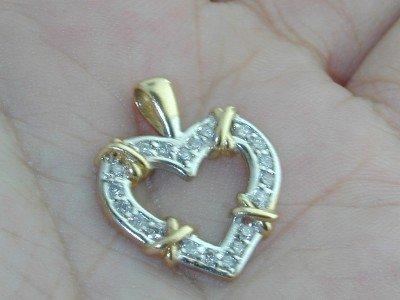 26: 14k 2 Toned Gold Diamond Pendant!!