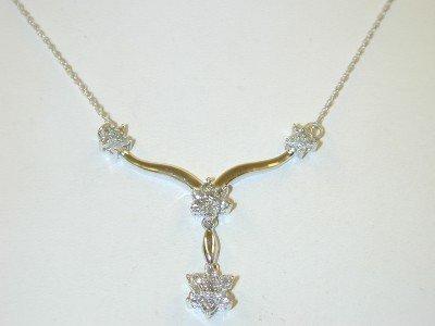 24: 14K White Gold Diamond Necklace !!