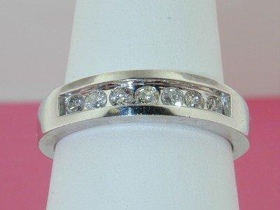 4: 14k White Gold Diamond Wedding Ring!