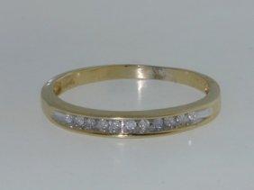 13: 10K Yellow Gold Diamond Ring!!