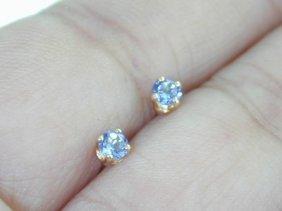 16: 14k Yellow Gold Blue Topaz Earring!!