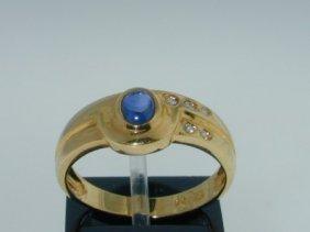 20: 18k Yellow Gold Sapphire, Diamond Rings!!