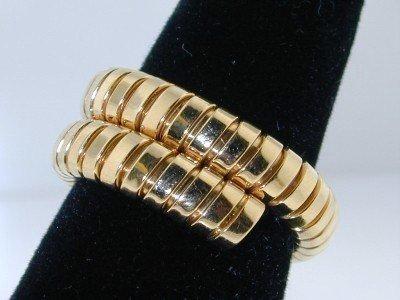 22: 100% BVLGARI 18K Yellow Gold Ring