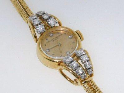 68: Authentic Vacheron & Constantin18K Gold Diamond Wat