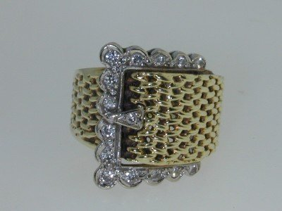 3: 14K  Two-tone Gold Diamond  Ring,