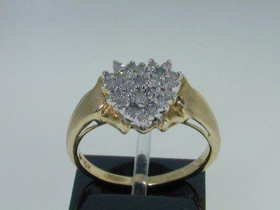 13: 10K Two-tone Gold Diamond Ring.